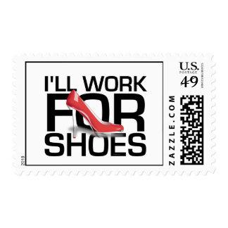 Trabajo de la CAMISETA I para los zapatos Timbre Postal