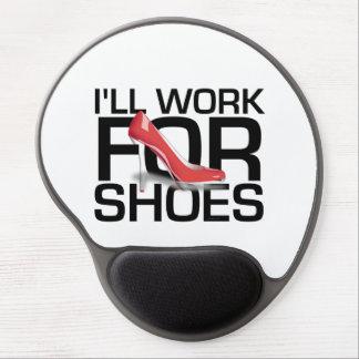 Trabajo de la CAMISETA para los zapatos Alfombrillas De Raton Con Gel