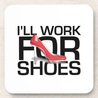 Trabajo de la CAMISETA para los zapatos Posavasos De Bebidas