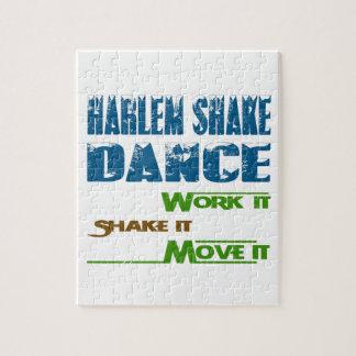 Trabajo de la danza de la sacudida de Harlem él Rompecabezas Con Fotos