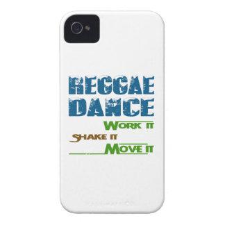 Trabajo de la danza del reggae él sacudida él iPhone 4 carcasas
