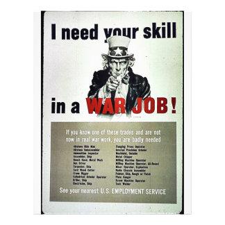 """¡Trabajo de la guerra! Folleto 8.5"""" X 11"""""""