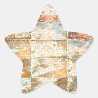 Trabajo de la teja del VITRAL del estilo del Pegatina En Forma De Estrella