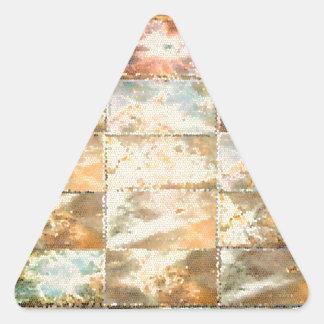 Trabajo de la teja del VITRAL del estilo del Pegatina Triangular