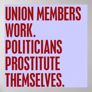 Trabajo de las sindicalistas Prostituta Themsel d Poster