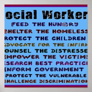 ¡Trabajo de los asistentes sociales! Poster
