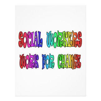Trabajo de los asistentes sociales para el cambio membretes personalizados