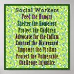 ¡Trabajo de los asistentes sociales! Posters