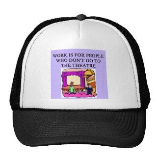 trabajo de los golpes del teatro gorras de camionero