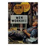 Trabajo de los hombres felicitación