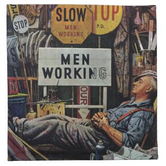 Trabajo de los hombres servilleta