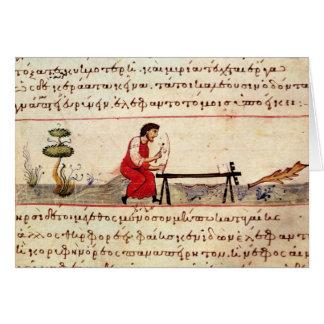 Trabajo de marfil tradicional de ms Grec 479 Tarjeta De Felicitación