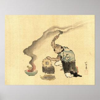 Trabajo de metalistería 1790 póster