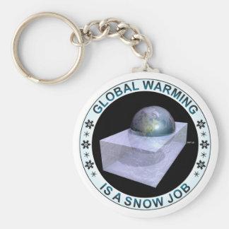 Trabajo de nieve global llaveros