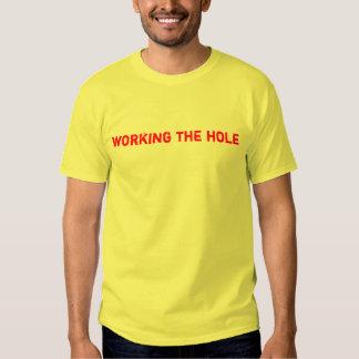 trabajo del agujero poleras