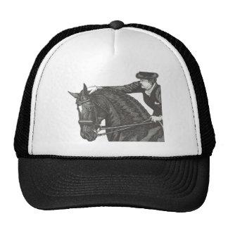 ¡TRABAJO del arte del caballo BUEN Dressage Pat Gorro De Camionero