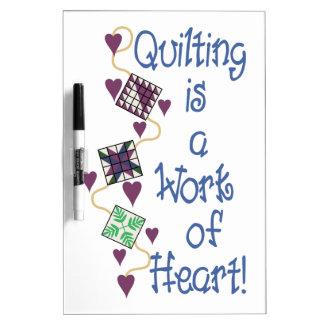 Trabajo del corazón pizarras blancas de calidad