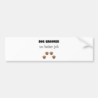 Trabajo del Groomer del perro Etiqueta De Parachoque