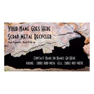 Trabajo del metal del tubo del metal o reciclaje tarjetas de visita