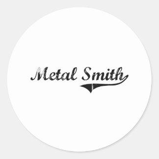 Trabajo del profesional de Smith del metal Pegatina Redonda