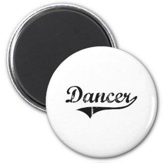 Trabajo del profesional del bailarín imán redondo 5 cm