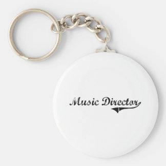Trabajo del profesional del director musical llavero personalizado