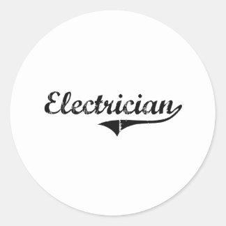 Trabajo del profesional del electricista pegatinas