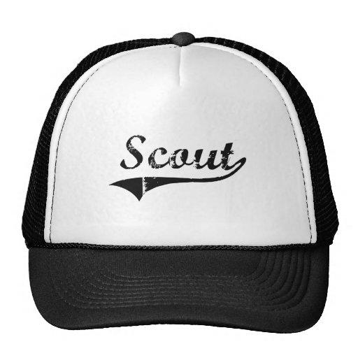 Trabajo del profesional del explorador gorras de camionero