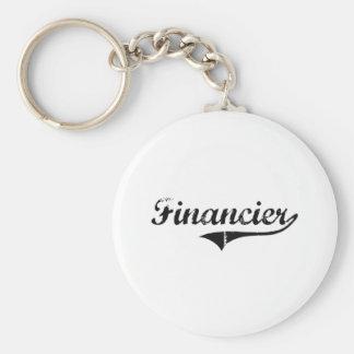 Trabajo del profesional del financiero llavero personalizado