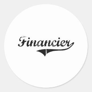 Trabajo del profesional del financiero pegatinas