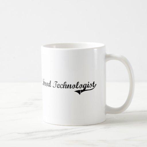 Trabajo del profesional del tecnólogo de la comida tazas