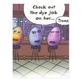 Trabajo del tinte de Pascua - postal