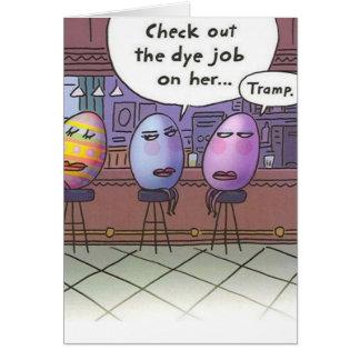 Trabajo del tinte de Pascua Tarjeta De Felicitación