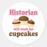 Trabajo divertido para el historiador de las magda pegatina