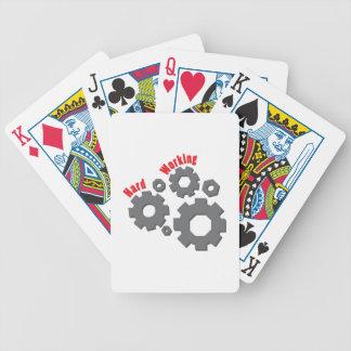 Trabajo duro baraja de cartas