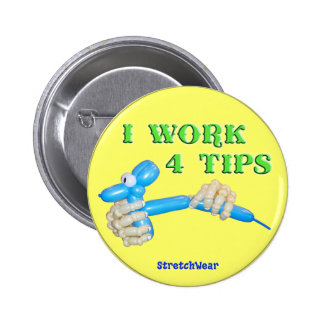 Trabajo el botón redondo del perro del globo de 4  pins
