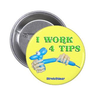 Trabajo el botón redondo del perro del globo de 4  pin redondo de 2 pulgadas
