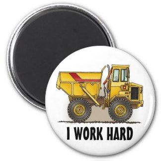 Trabajo el imán redondo del camión volquete grande