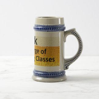 Trabajo - el látigo de las clases de consumición jarra de cerveza