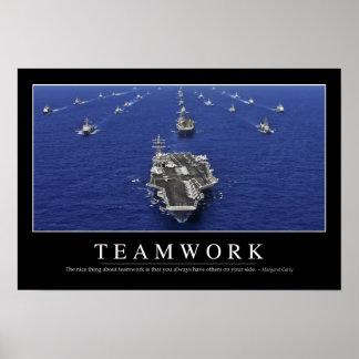 Trabajo en equipo: Cita inspirada Posters