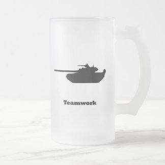 Trabajo en equipo del tanque taza cristal mate