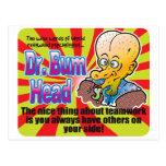 Trabajo en equipo, el Dr. Bum Head Tarjetas Postales