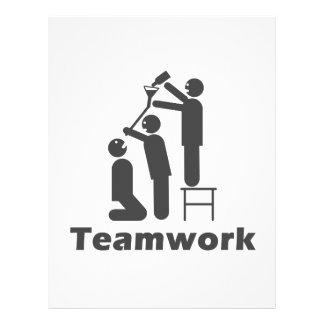 "Trabajo en equipo - mercancía de motivación folleto 8.5"" x 11"""