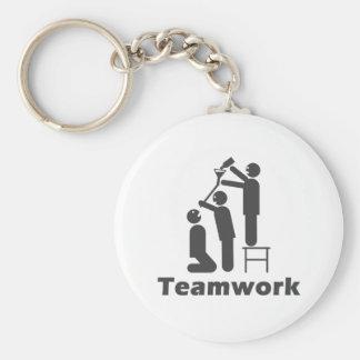 Trabajo en equipo - mercancía de motivación llavero redondo tipo pin