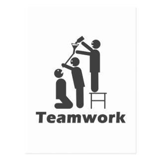 Trabajo en equipo - mercancía de motivación postal