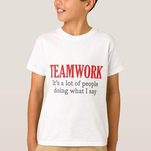 Trabajo en equipo playera