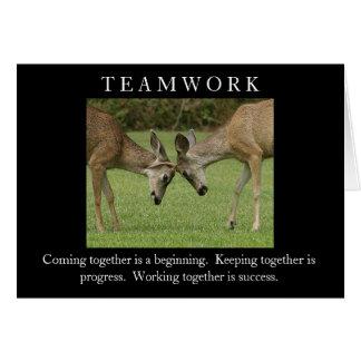 Trabajo en equipo felicitación