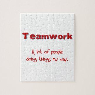 ¡Trabajo en equipo! ¡Todos que hacen cosas MI mane Rompecabeza Con Fotos