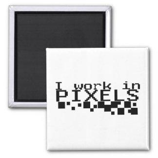 Trabajo en imán de los pixeles