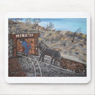 Trabajo en la mina de carbón tapete de ratón